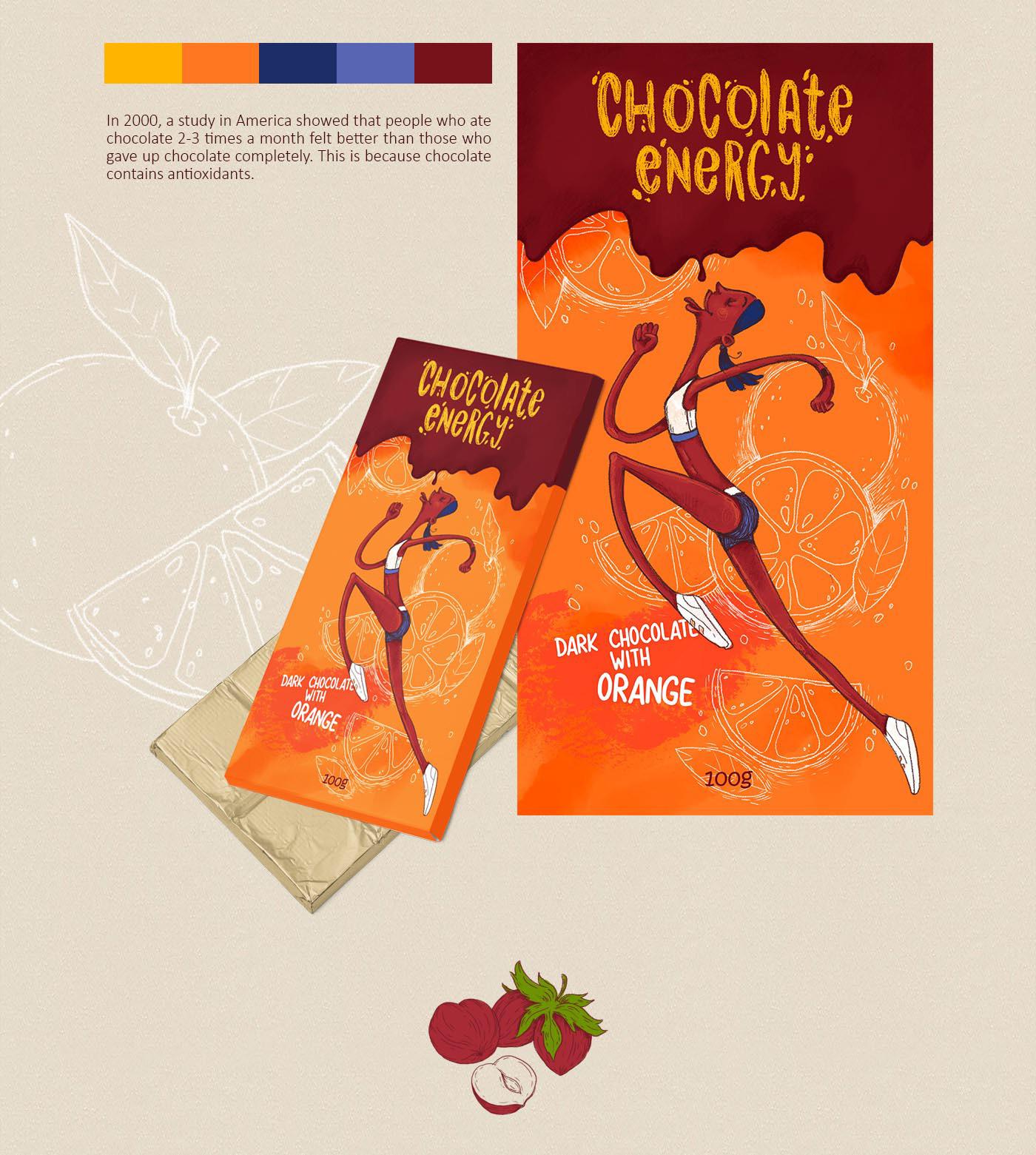 boy cartoon Character design  chocolate design girl ILLUSTRATION  packaging presentation Picture Procreate