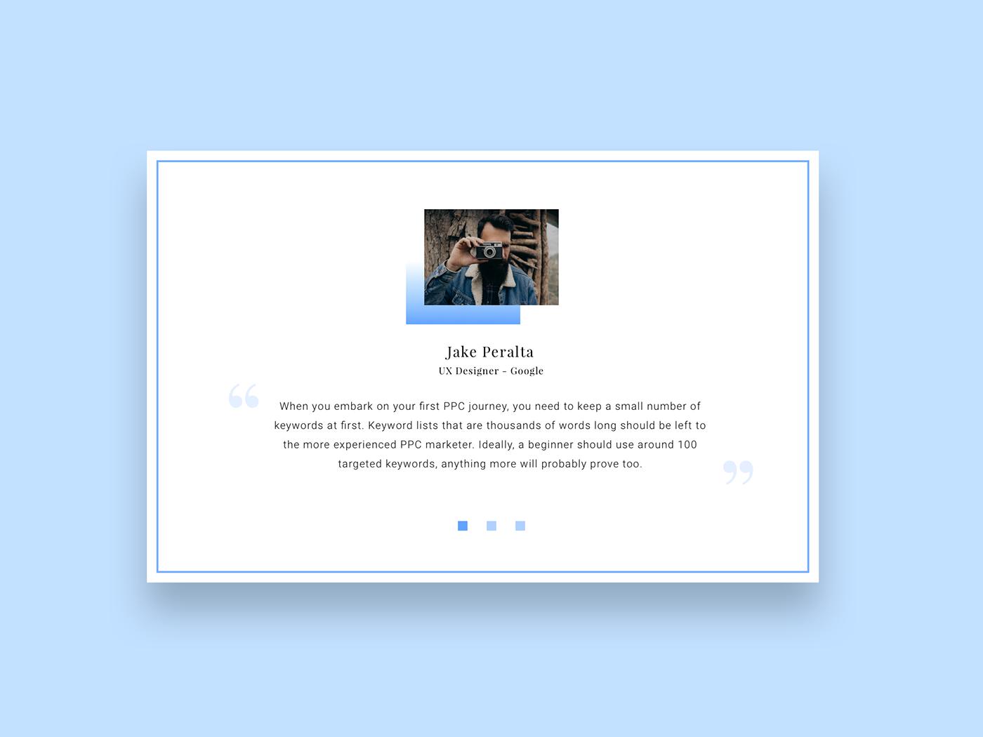 Testimonials daily ui UI ux Interface design Webdesign