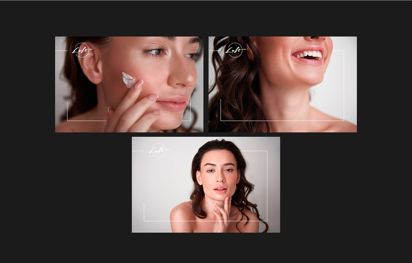 beauty salon logo identivication branding  price list voucher poster