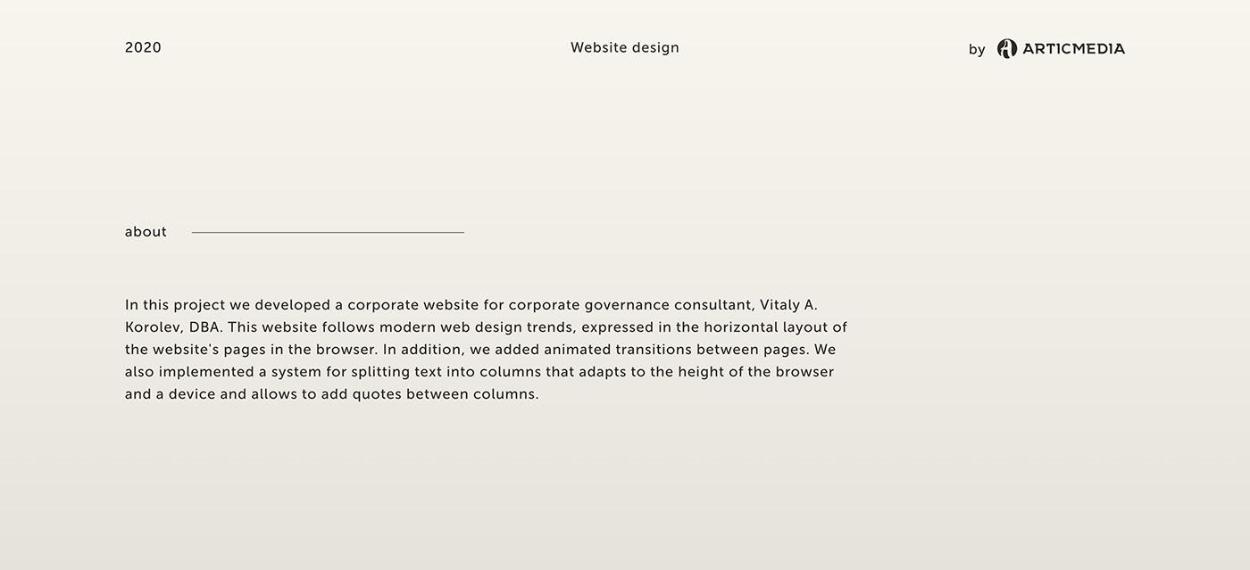 business businessman consultant corporative e-commerce Governance personal website UI ux Website