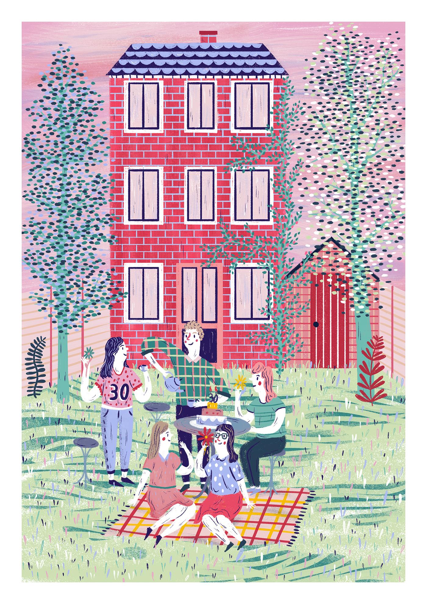 garden picnic Birthday