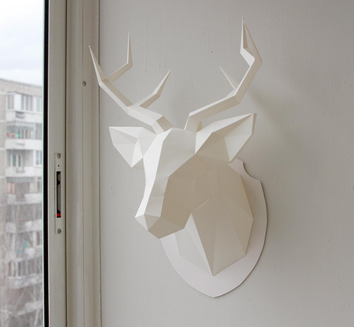 Как сделать голову оленя на стену