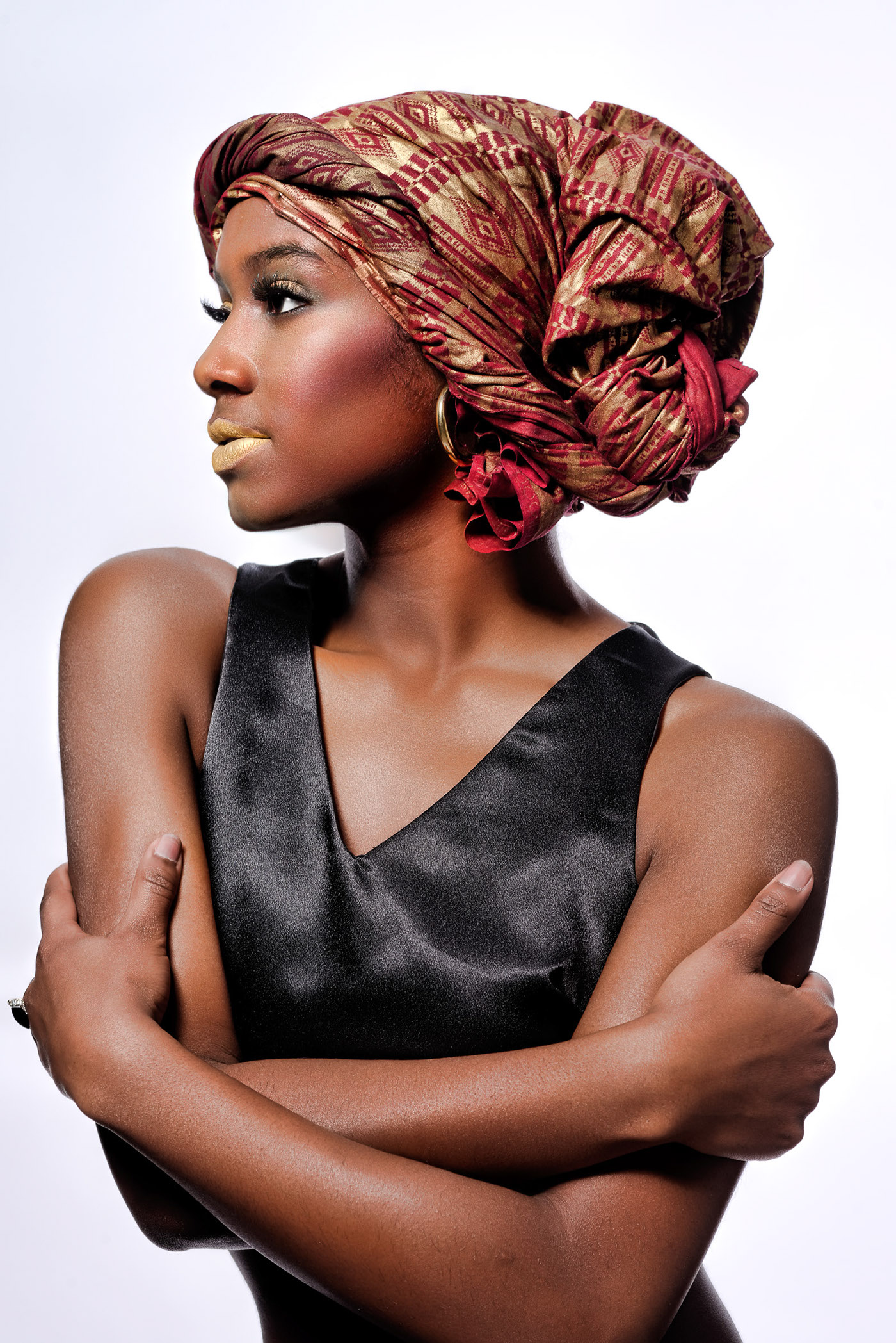 Alexis Cook Fashion Designer fashion photography Preston Page Preston Page Photography African scarf fashion model