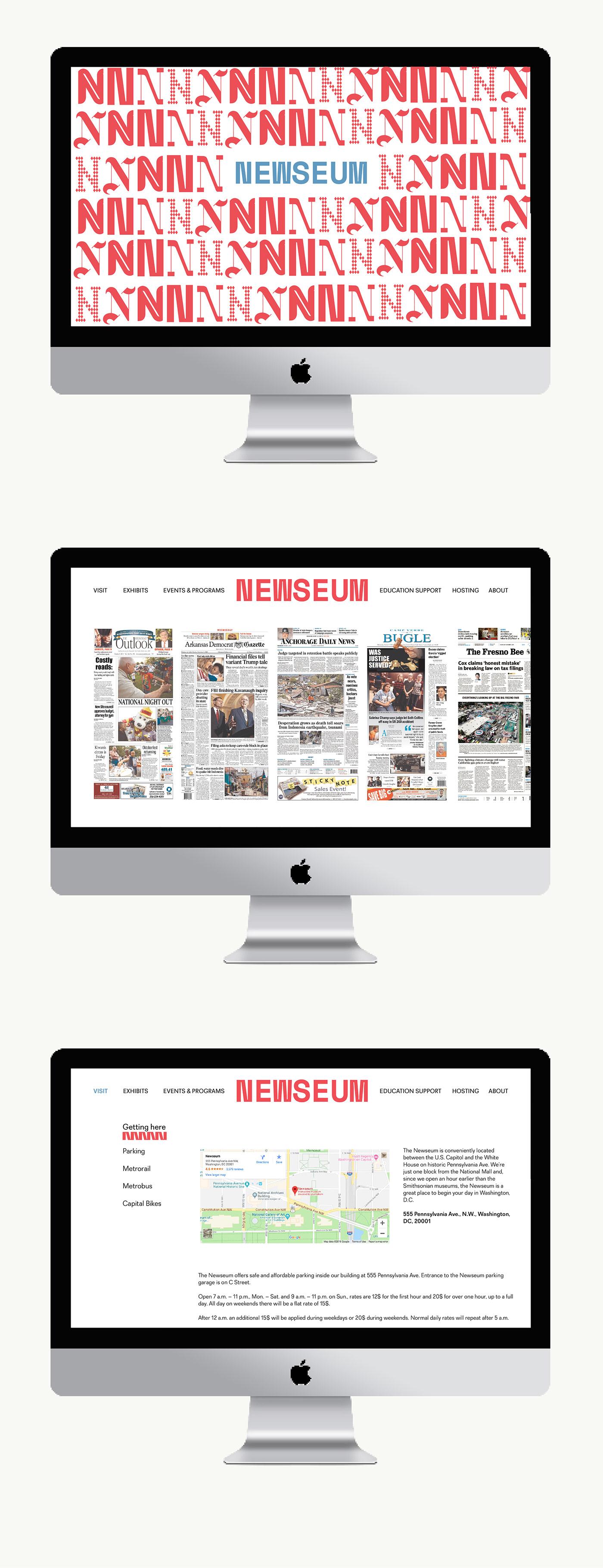 branding  graphic design  identity museum Newseum typography