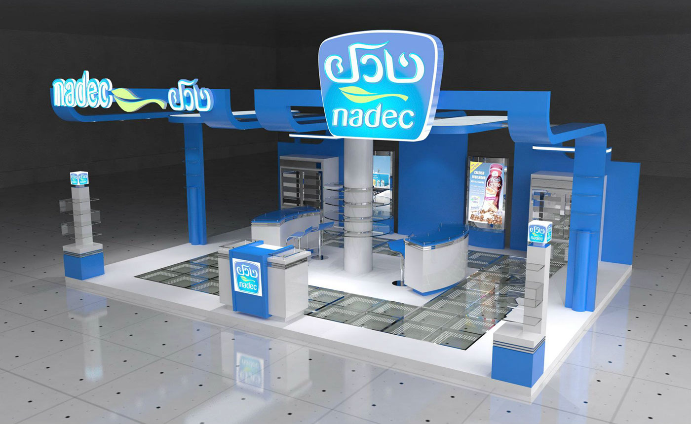 Exhibition Stand 3d Model Sketchup : Exhibition stand design concept on behance