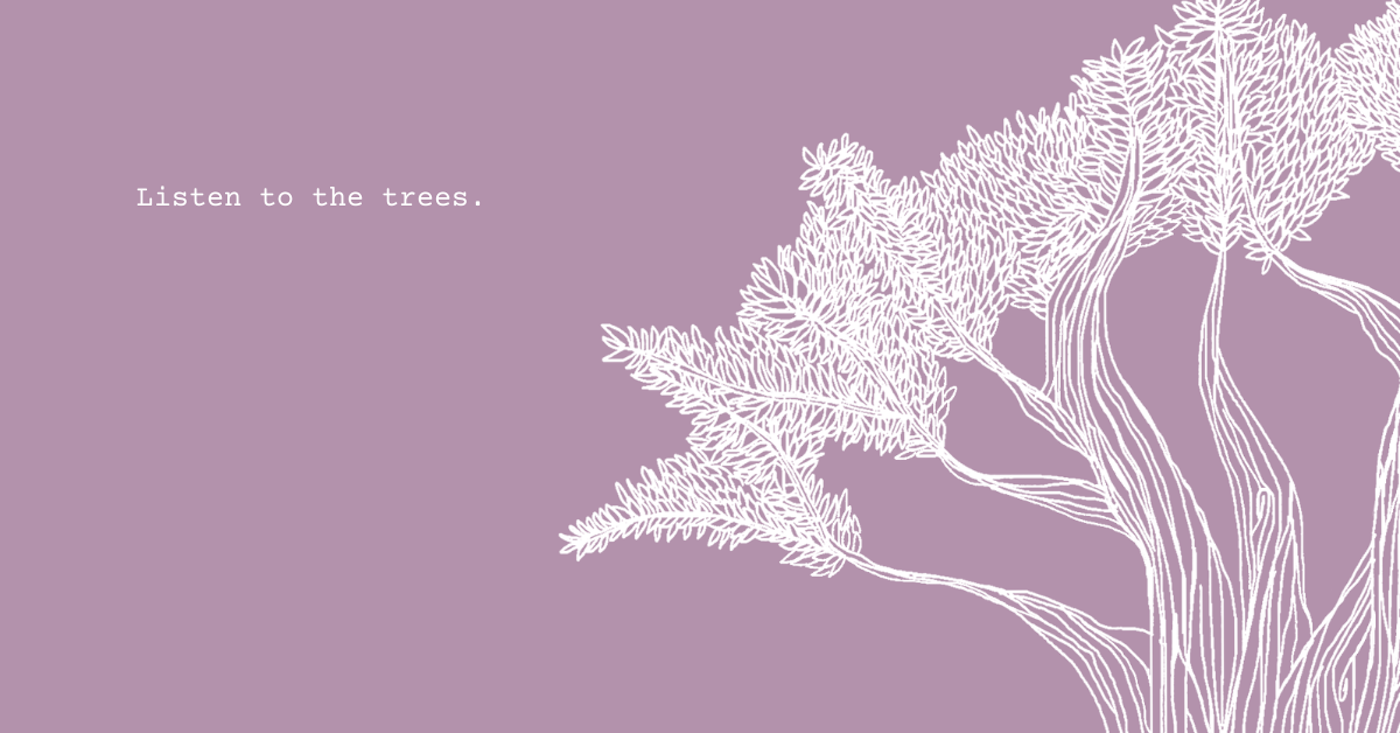 Drawing  iPad line lost Minimalism pastel photoshop stress Tree