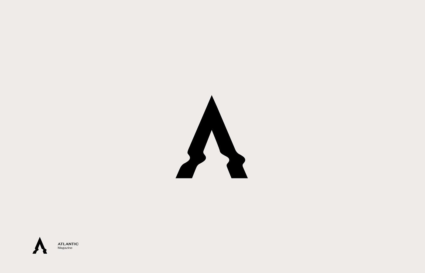 Atlantic - logo for magazine