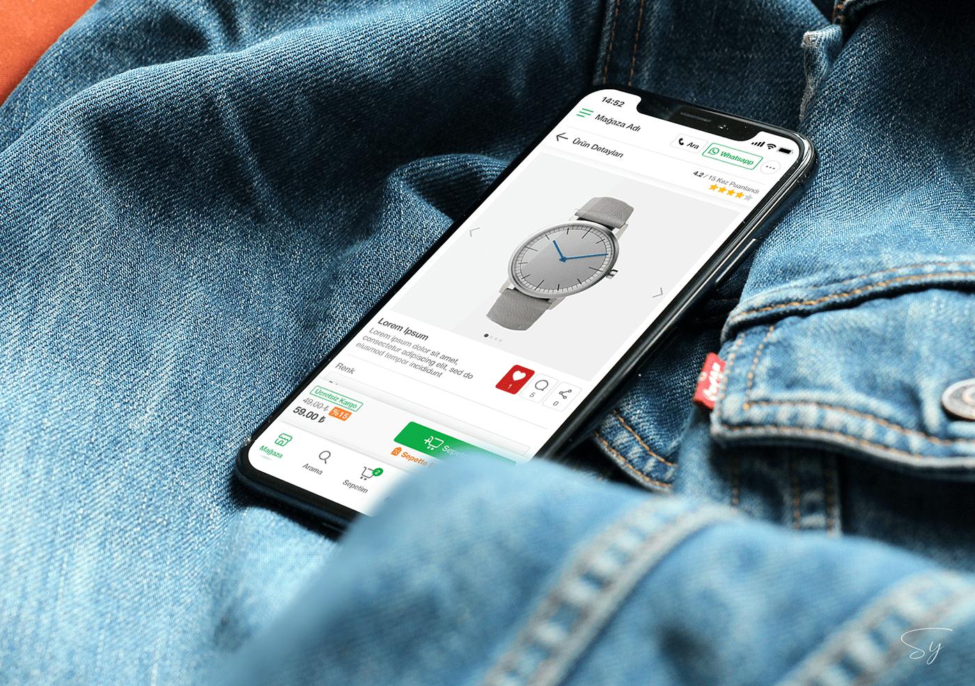 app app design e-commerce Mobile app online store UI ui design