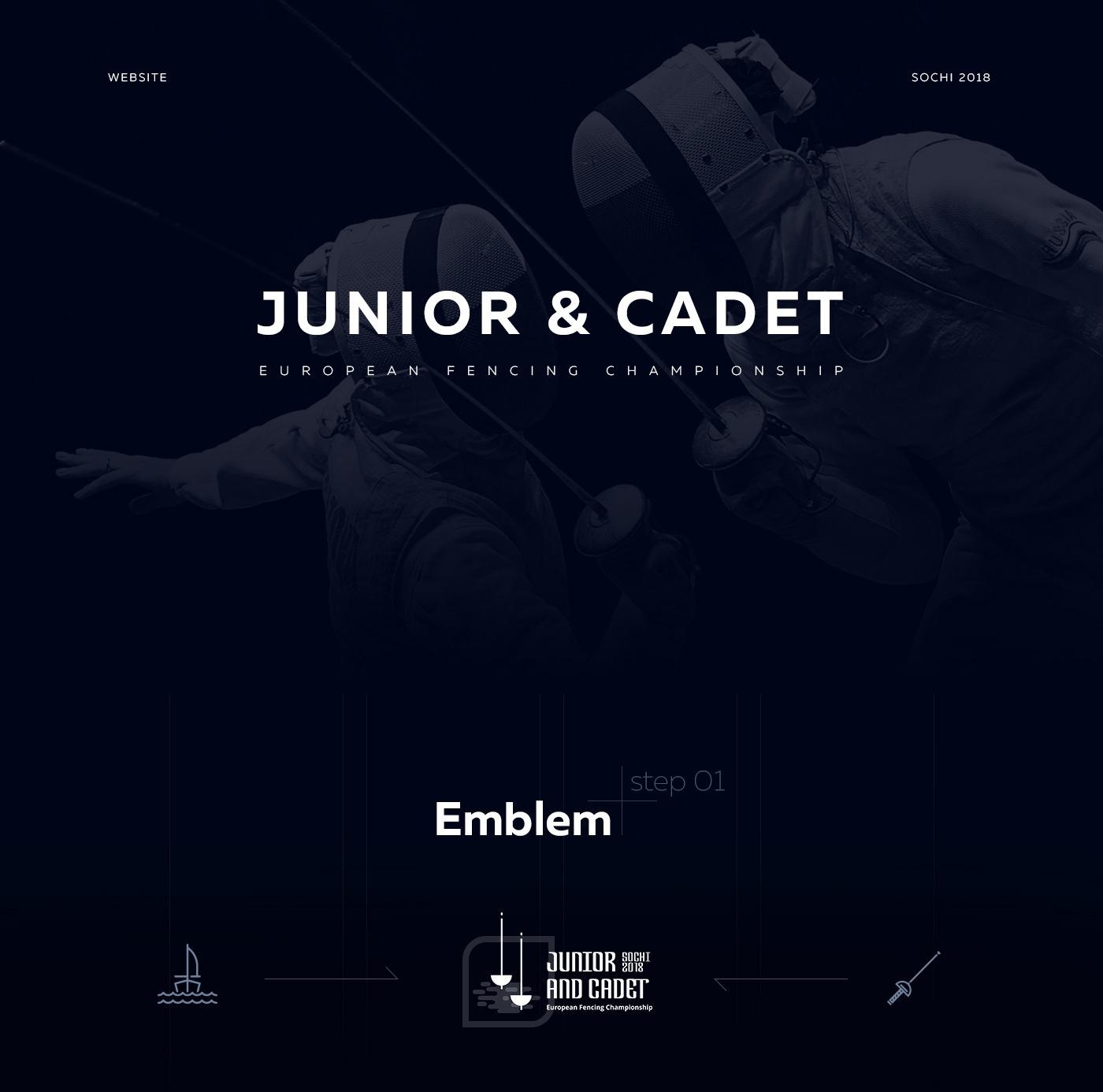 Website sports fencing Championship sochi 2018 dark animation