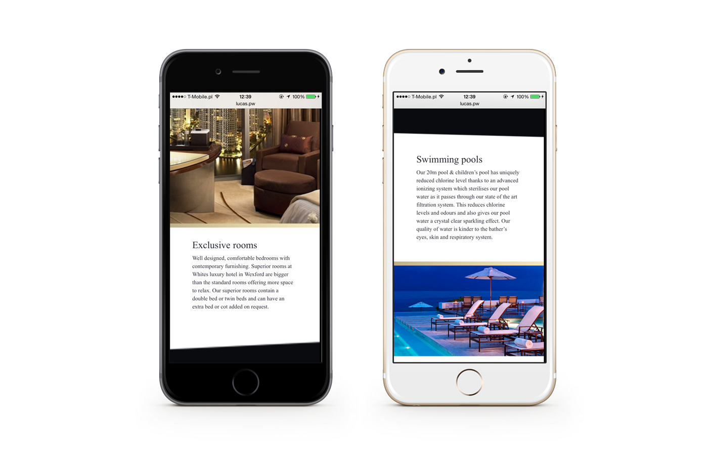 site page rwd Responsive HTML css One hotel gold luxury restaurant brand logo black elegant