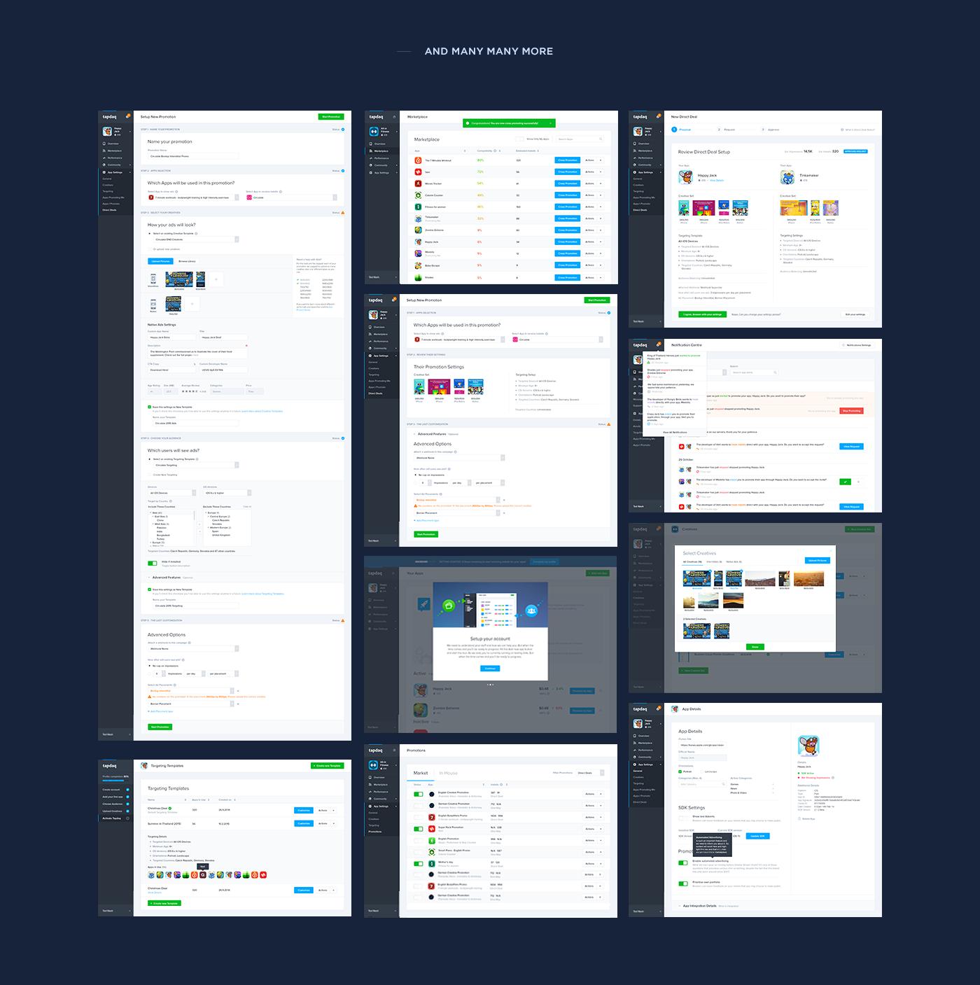 Performance landing dark dashboard profile graph table apps Web stats summary UI
