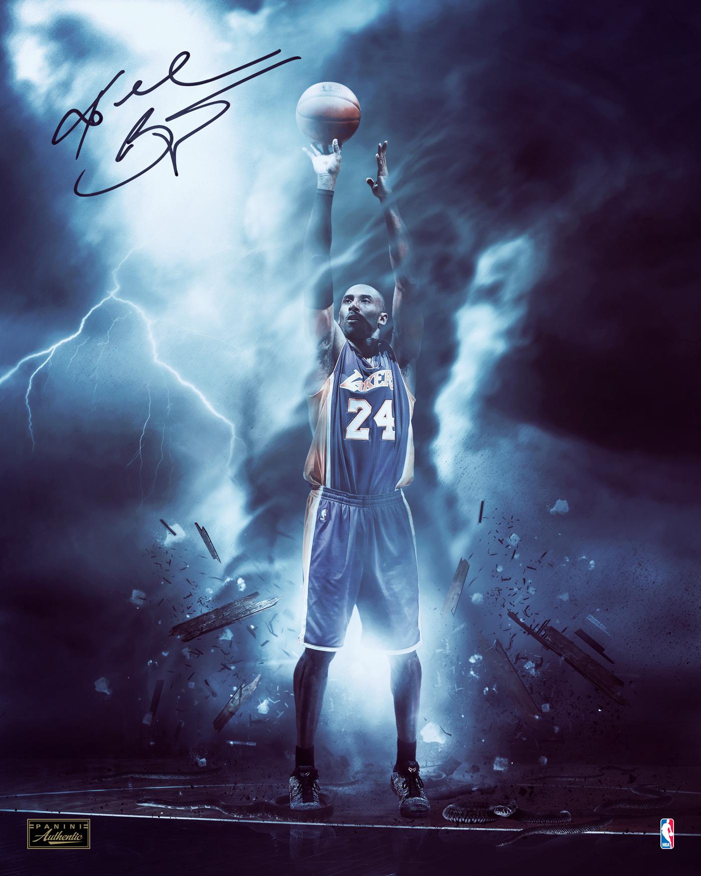Kobe Bryant panini Authentic memorabilia NBA Lakers sport basketball kobe black mamba