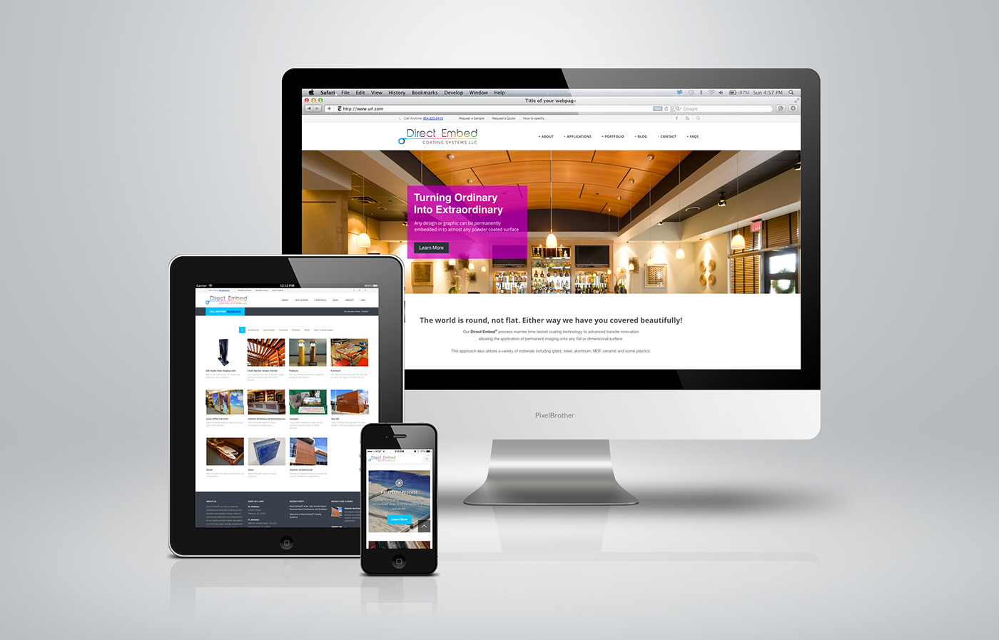 Responsive website design and development for Direct Embed