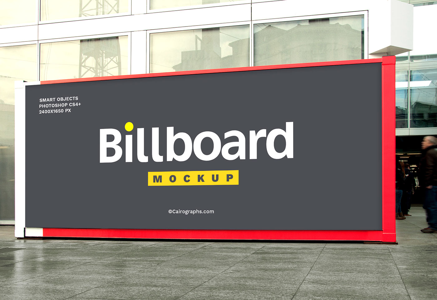 ads advertisement Mockup banner billboard business campaign company Display editable Outdoor photorealistic