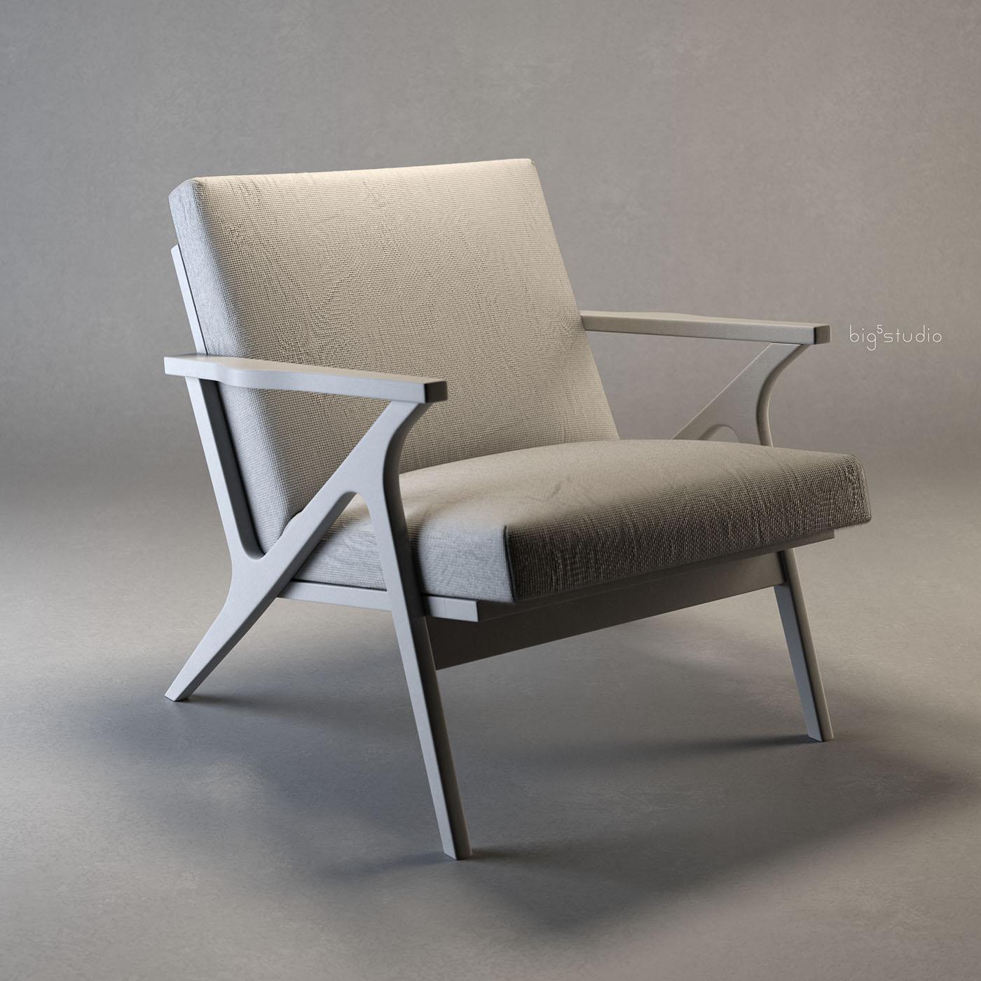 Charmant Cavett Wood Frame Chair On Behance
