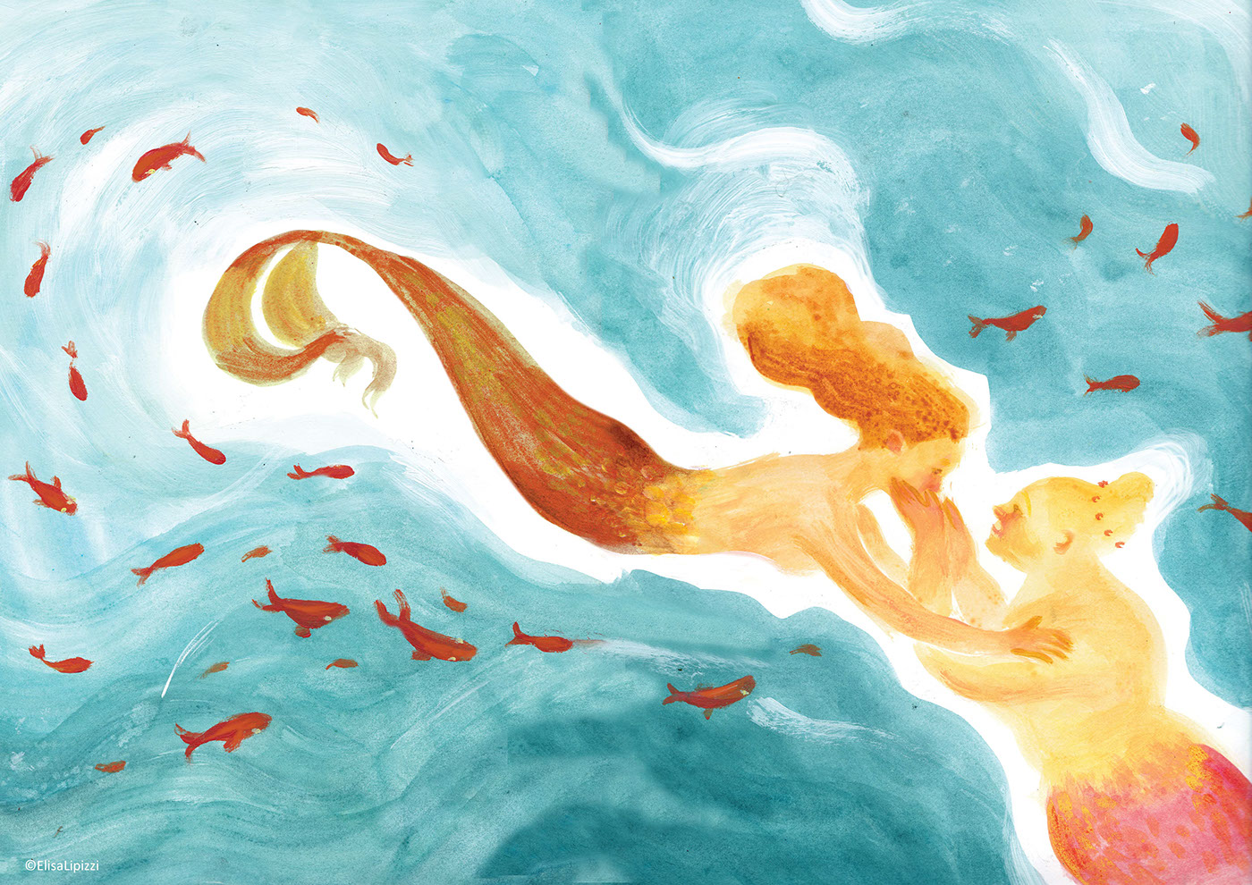 Sirenetta mermaid storyboard orecchio acerbo fiaba lipizzi elisa Palazzo