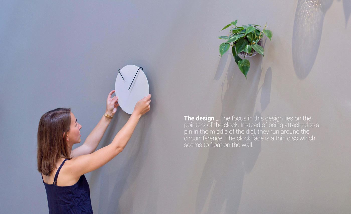 clock award productdesign industrialdesign WALLCLOCK IMNU Jara Freund Photography  rendering minimalistic