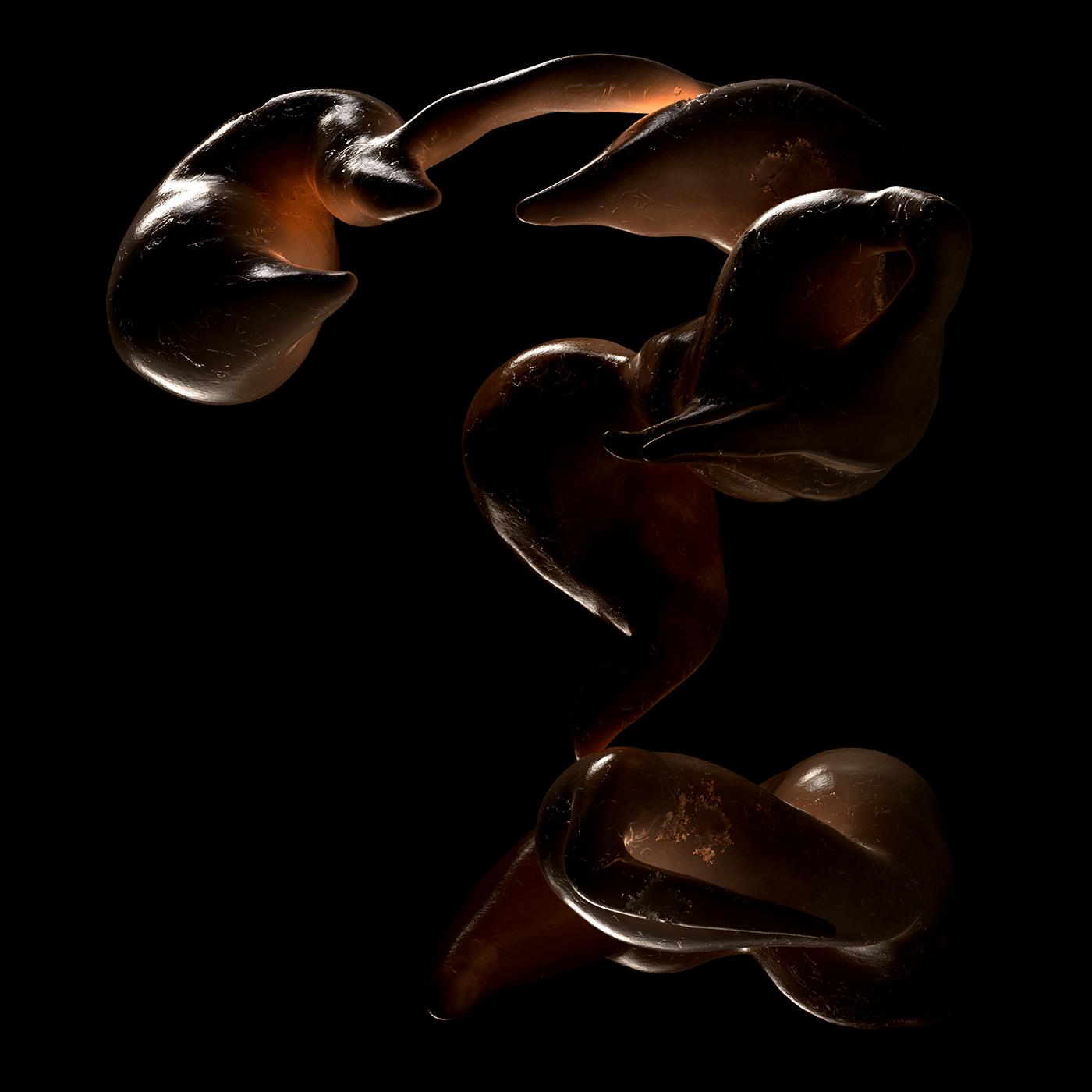 abstract cinema4d crab fish muzzle Ocean porcelain redshift sculpture