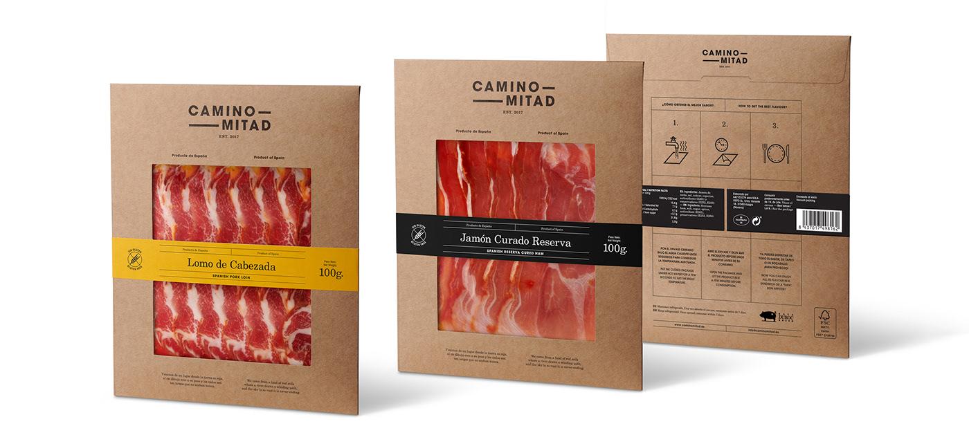art direction  packaging design Eco-Friendly Design wine ham Visual Communication graphic design  Web Design  label design branding