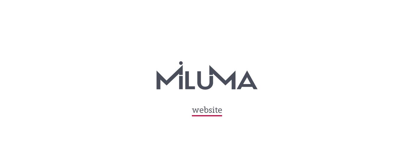 miluma company Technology redesign Website UI ux online Layout PV facility manager Pasta Factory  multiutility   energy digital signage