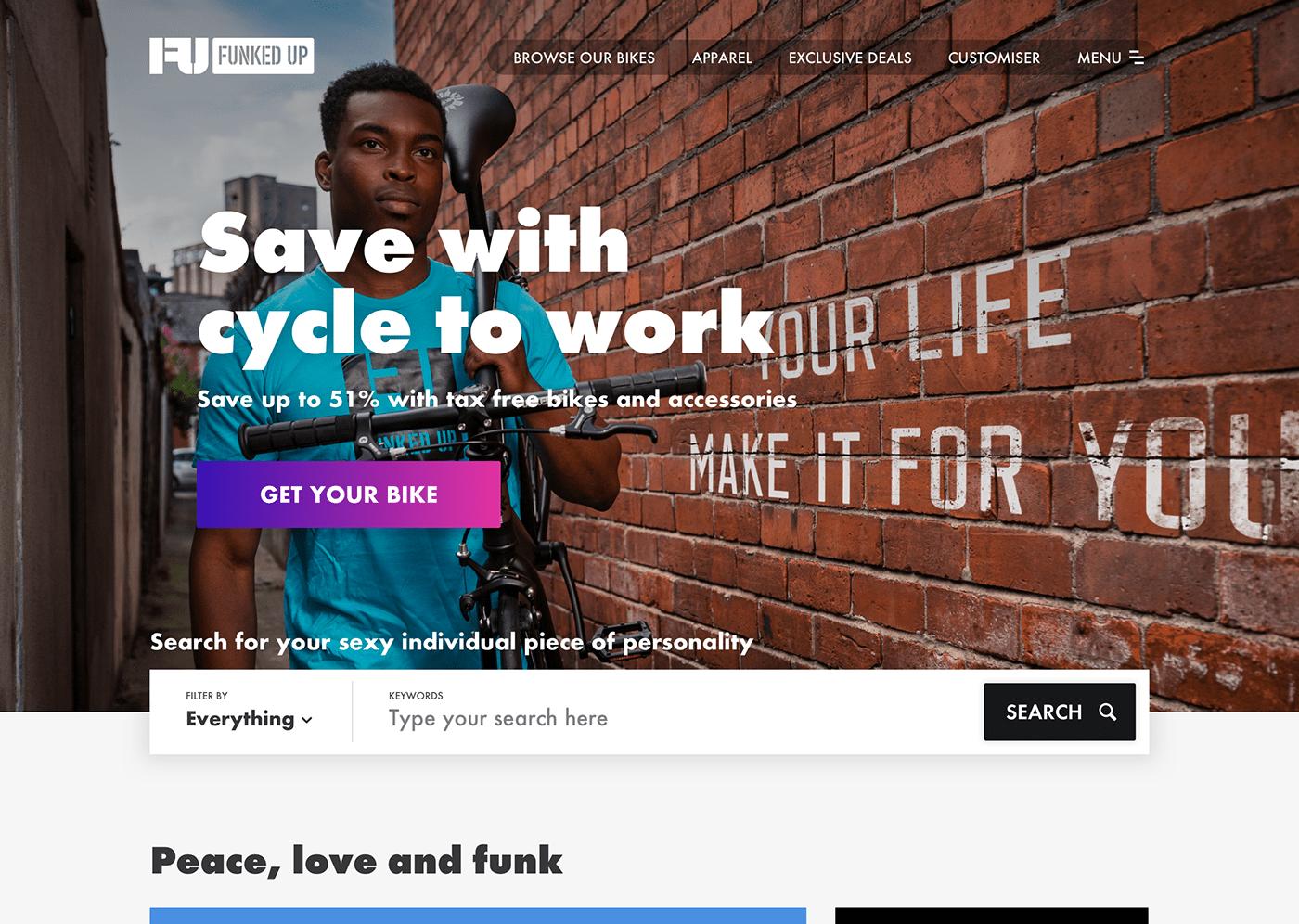 bikes homepage landing page UI ui design user interface ux UX design Web Design  Website