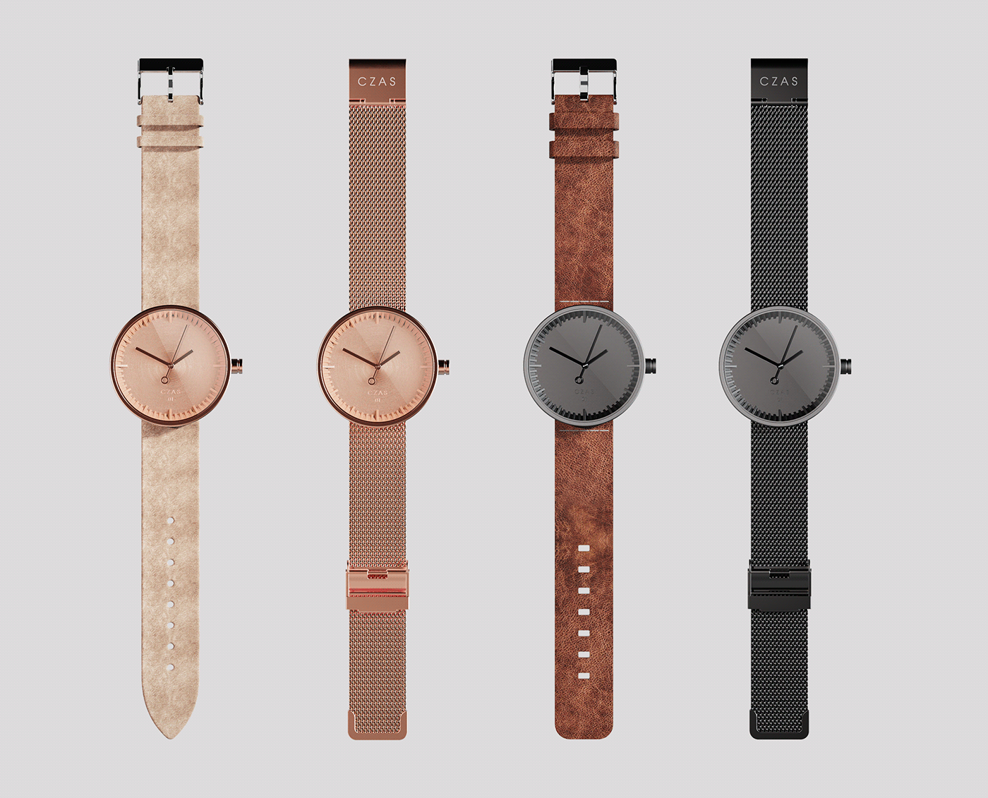 2sympleks design time watch Watches movement saphire strap