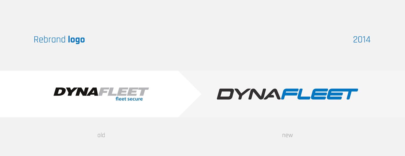 dynafleet icons fleet blue Cars Corporate Identity identity moto rebranding