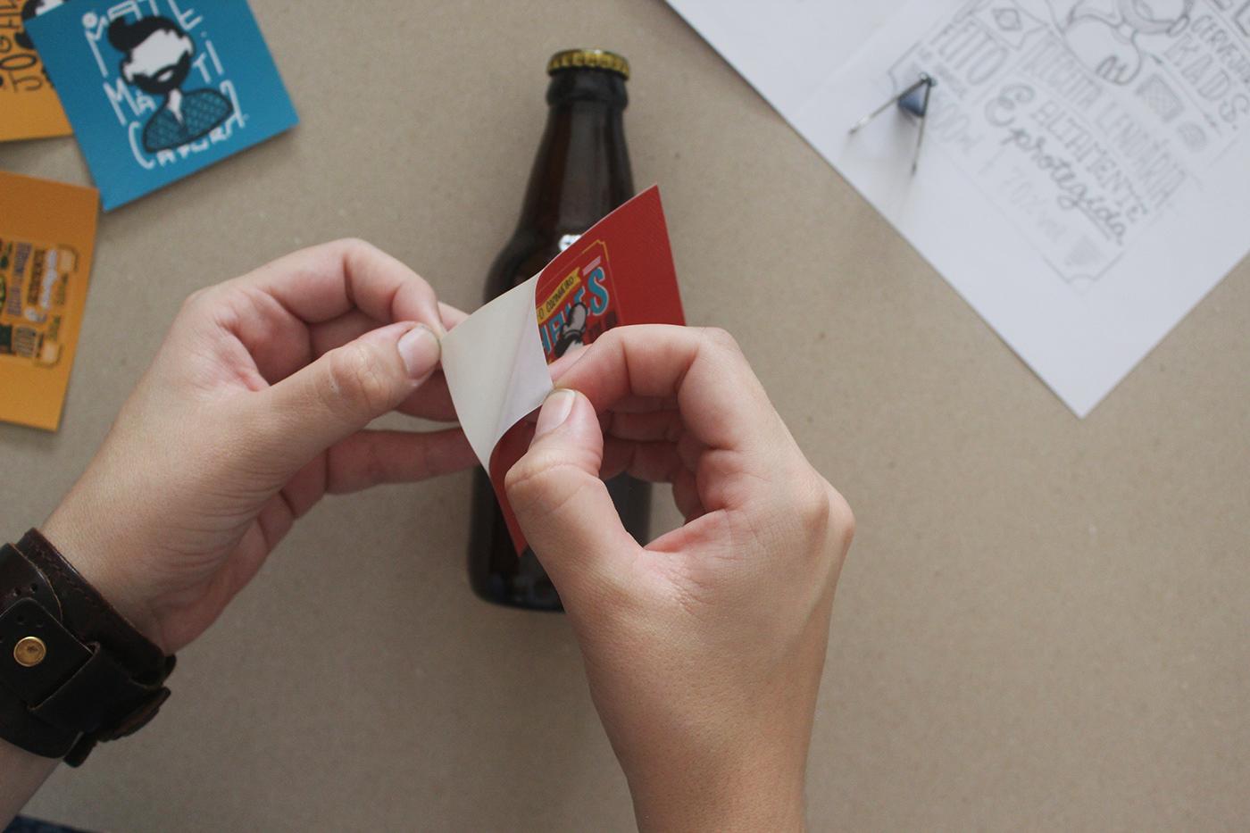 beer Label design Valentine's Day lettering soccer ILLUSTRATION  gift