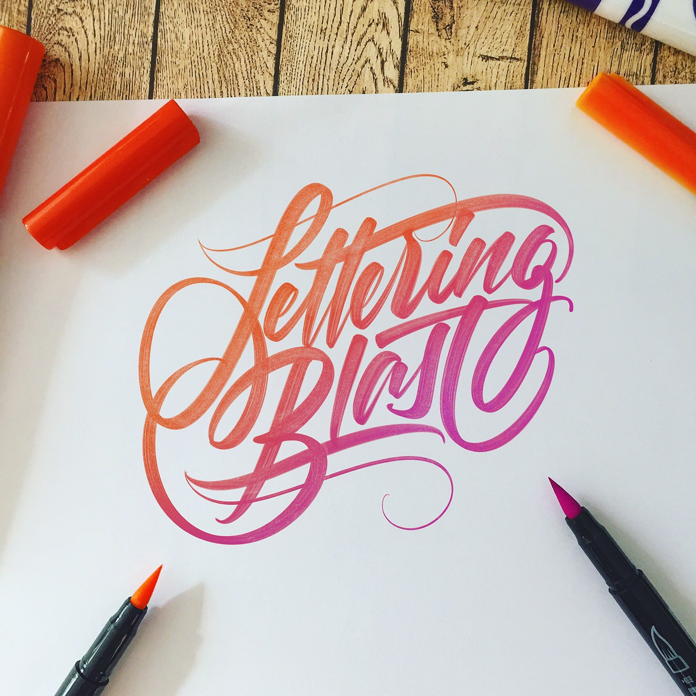 Lettering Blast My Best Works In 2016 On Behance