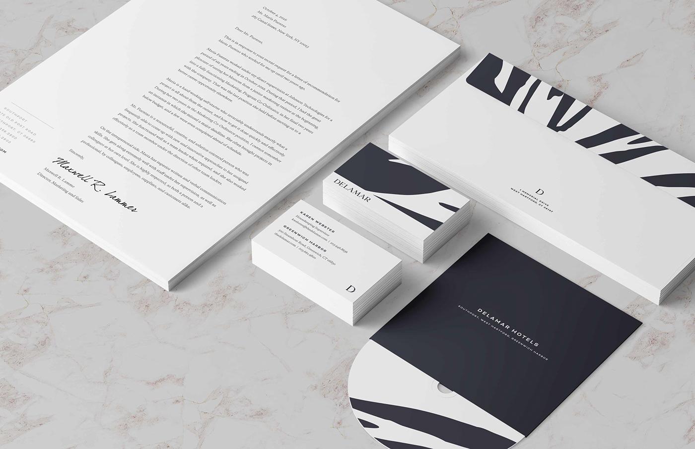 hotel Business Cards stationary Logotype mark identity logo Splash page UI Web Design