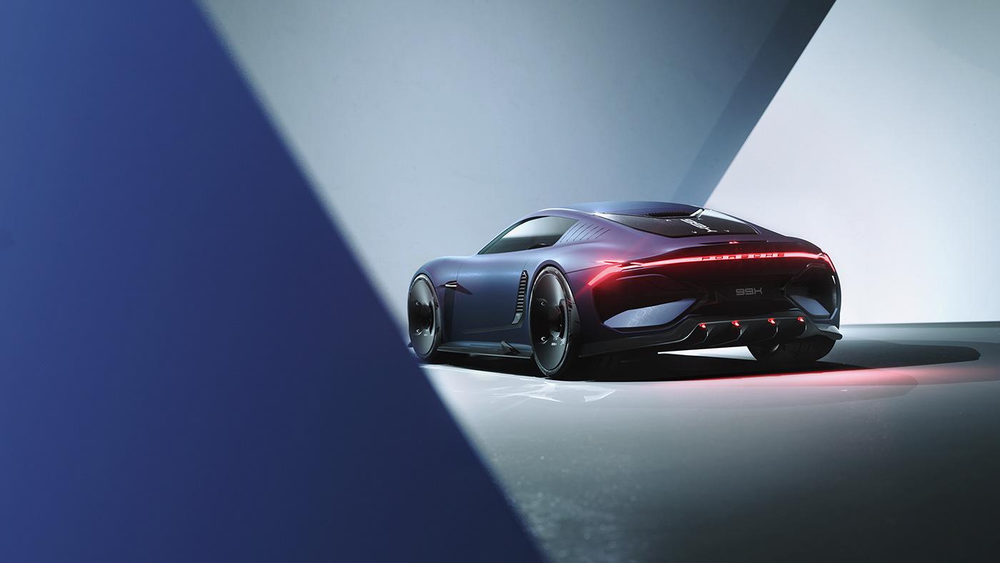 3D 99x best concept design download Invisive model Porsche rendering