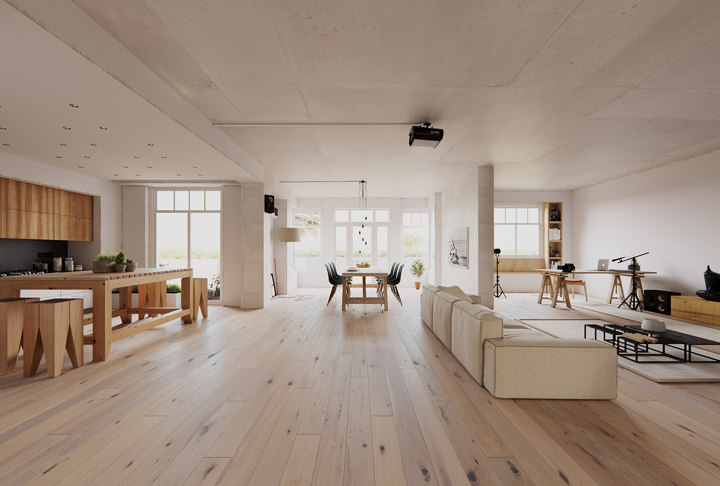 cgi remake of 16th apartment by 2b group on behance