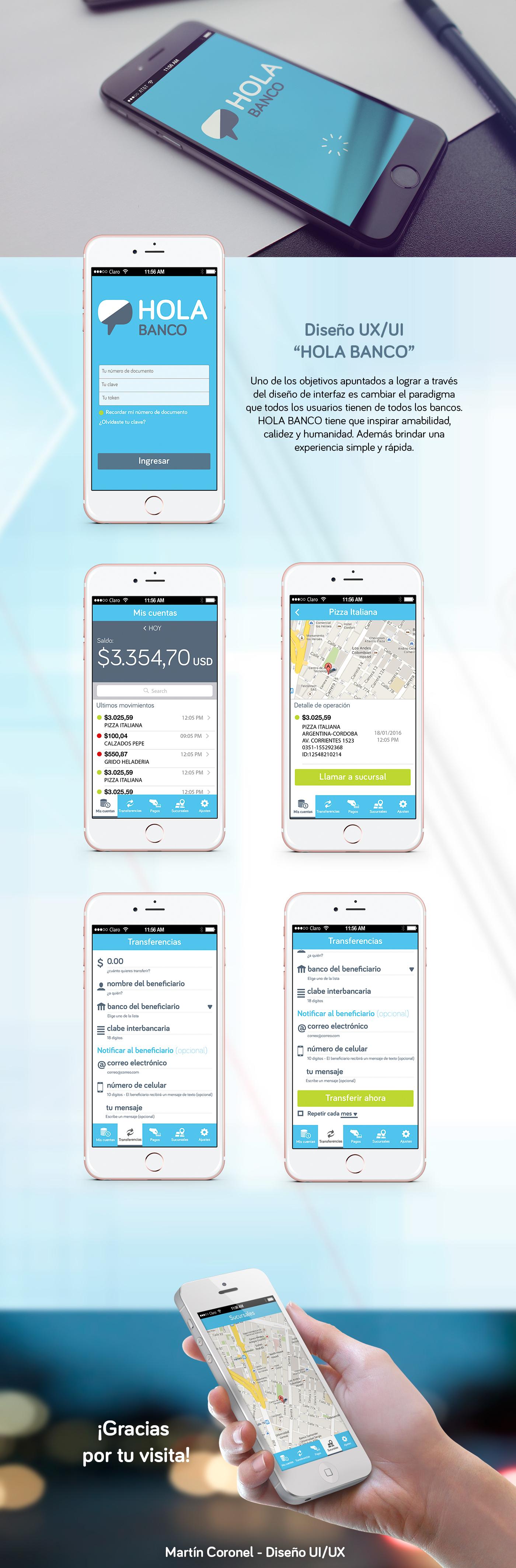 ux/ui app banca movil movil