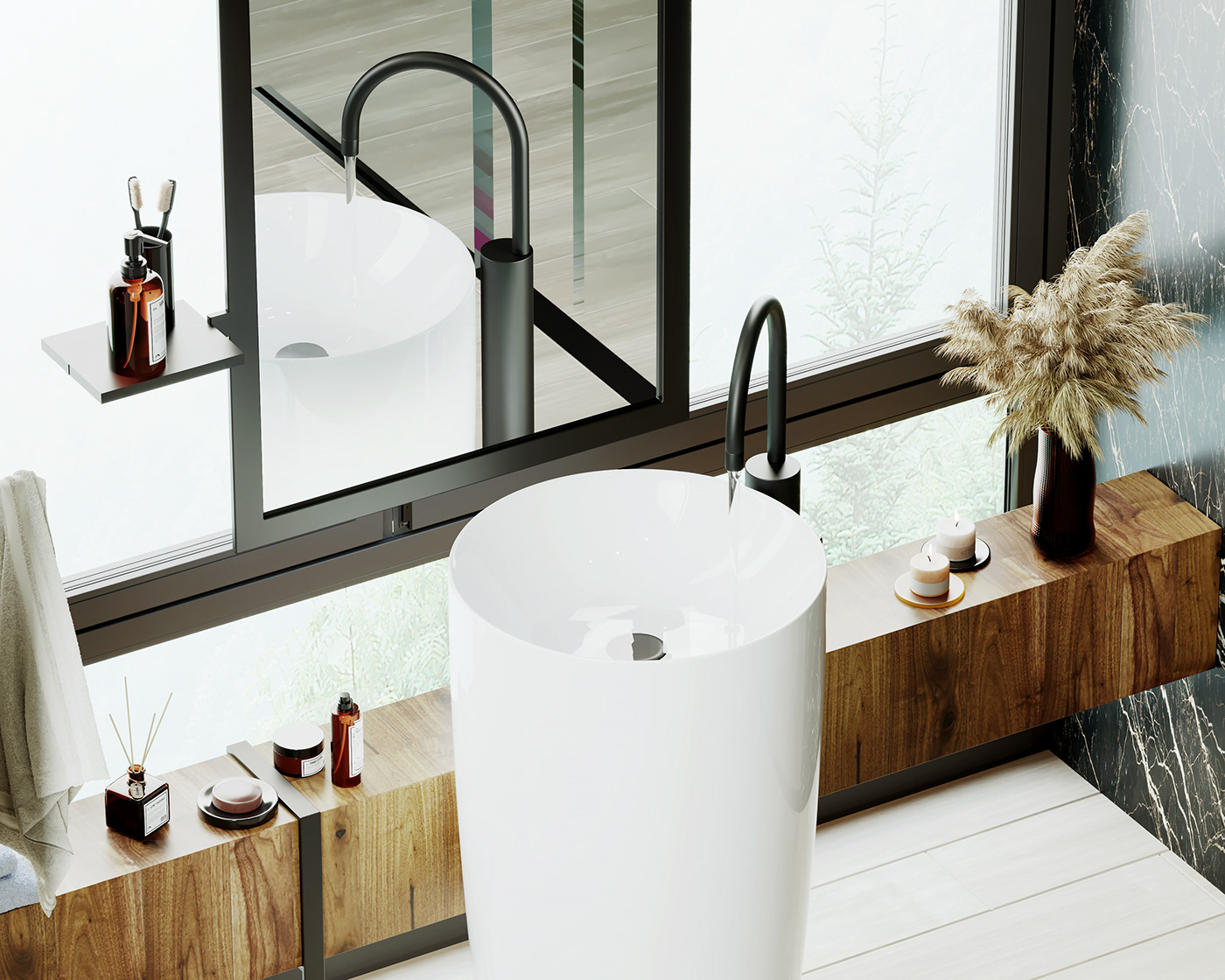 Adobe Photoshop architecture arquitectura baño bathroom cinema 4d corona render  design diseño Interiorismo