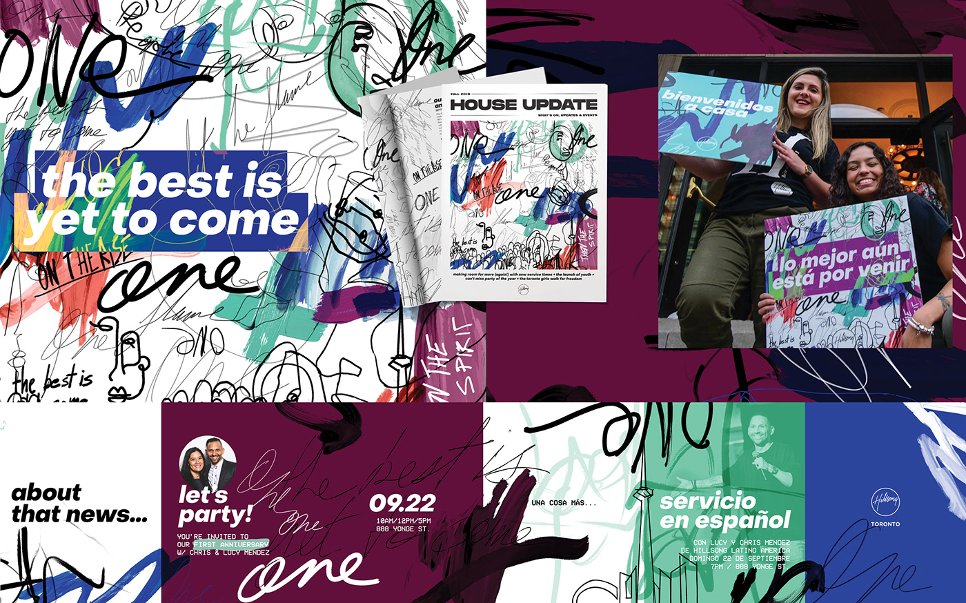 art branding  church creative design direction hillsong print social Toronto