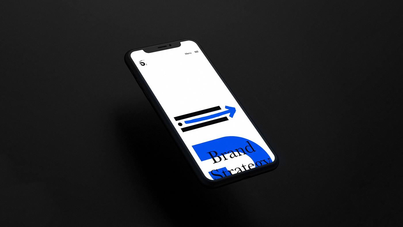 branding  identity Logotype corporate blue five ui ux navigation menu animation