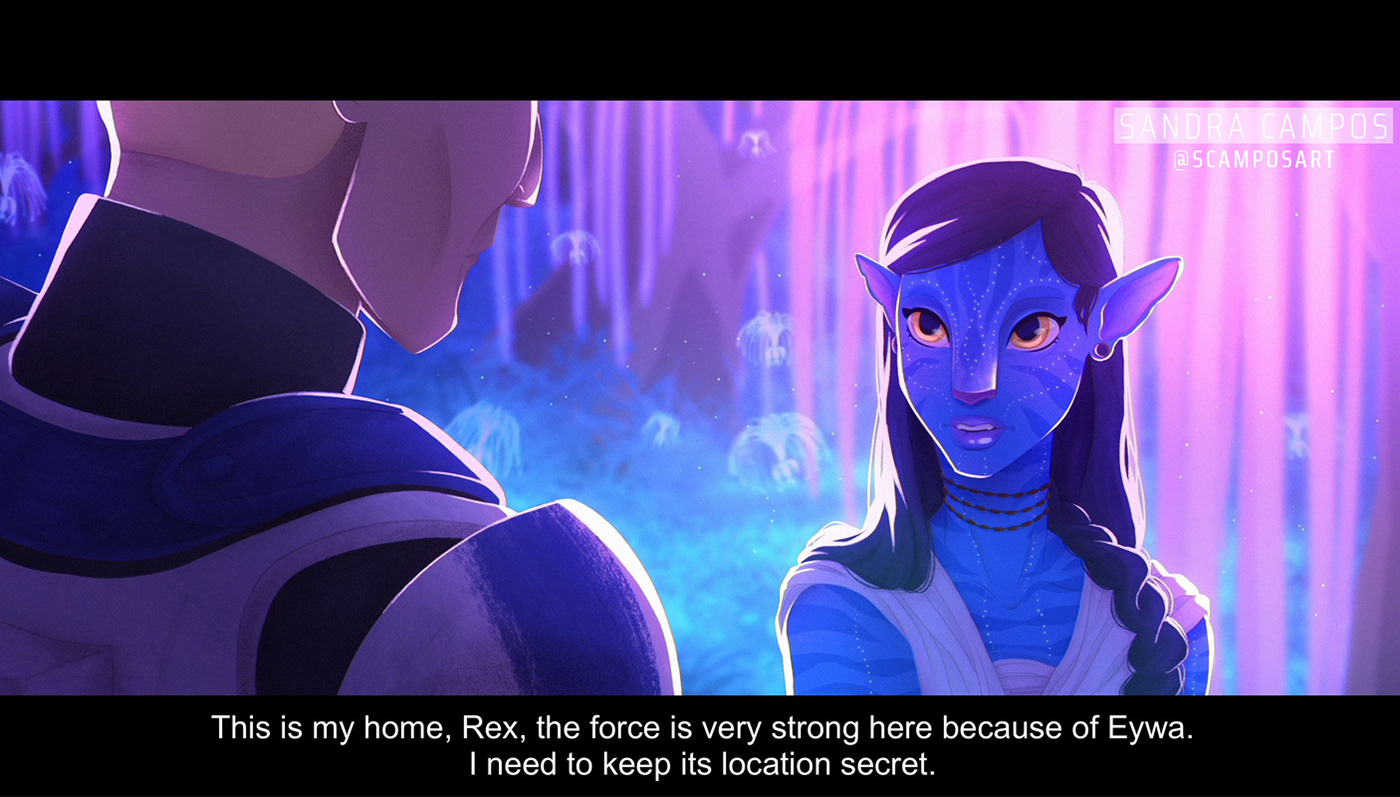 avatar clone wars crossover Fan Art jedi navi REX star wars the force Trooper