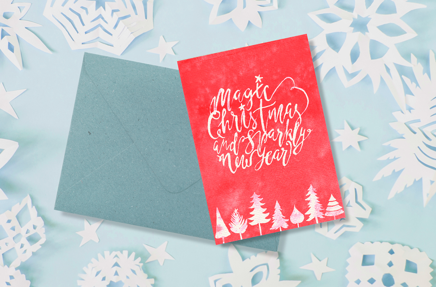Watercolor hand lettering post cards on Behance