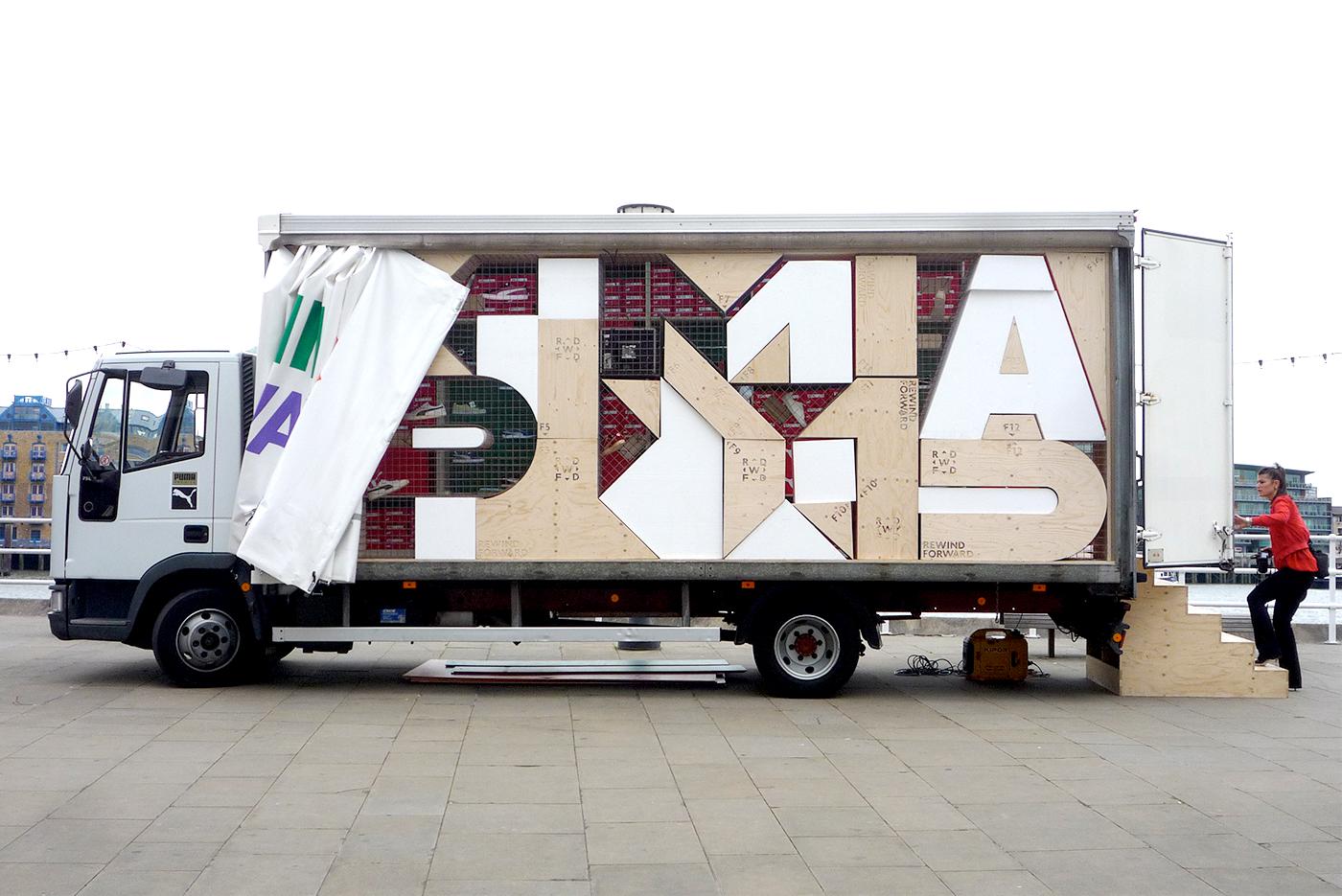 puma pop-out Truck rewind forward