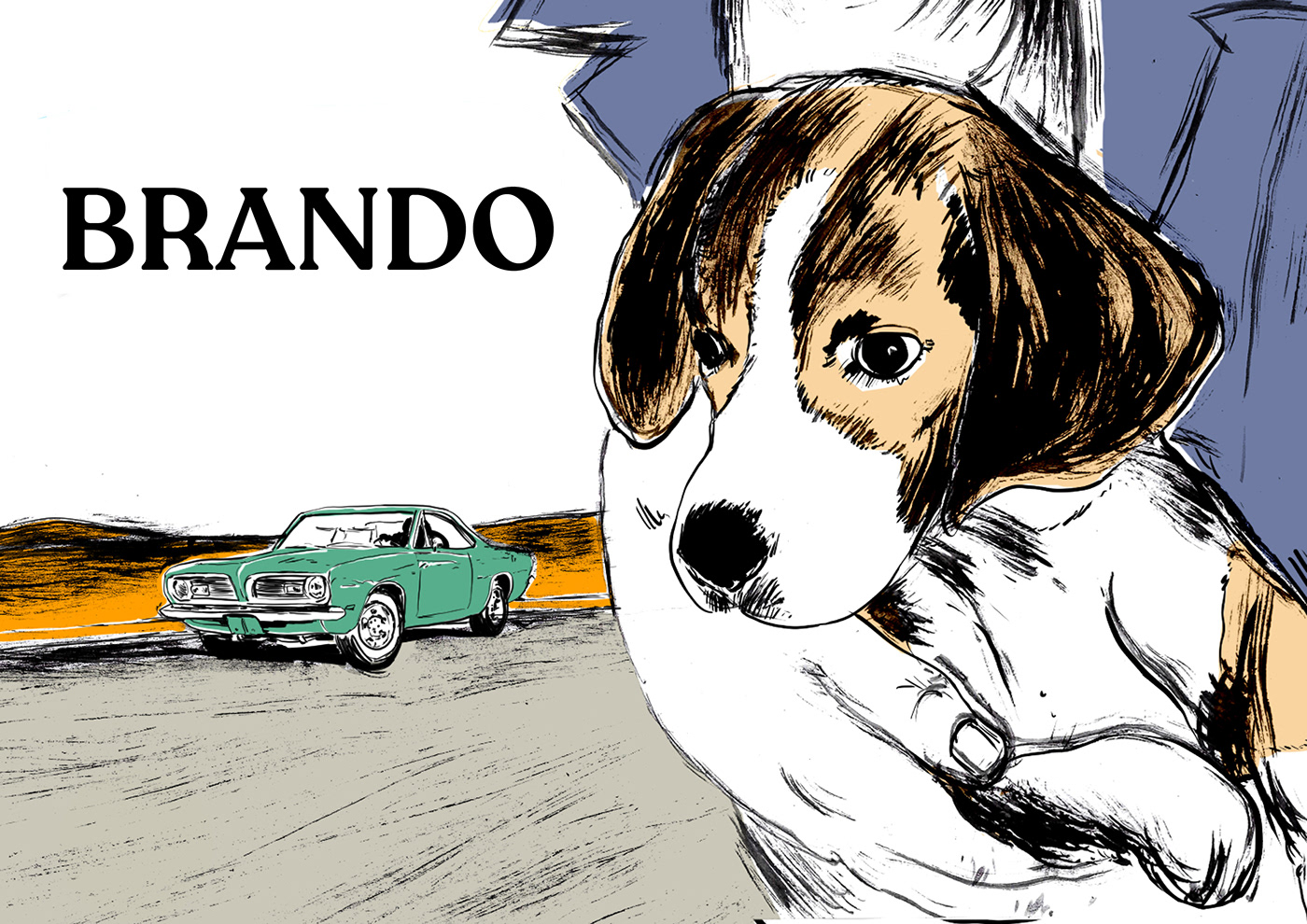dog dossier Film   ILLUSTRATION  illustrations ink