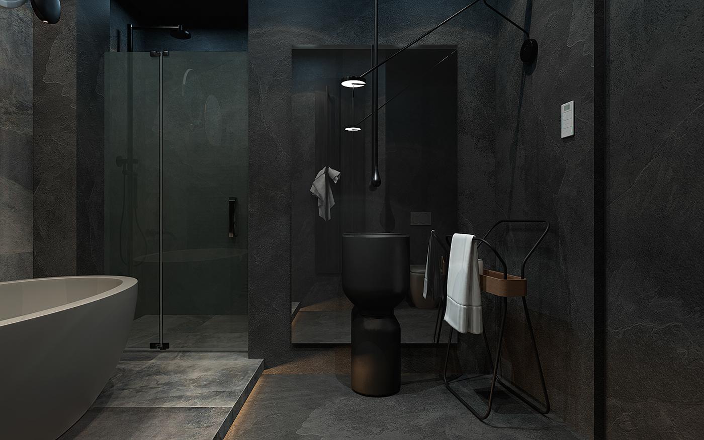 How To Create A Greyscale Bathroom: Grayscale Apartment On Behance