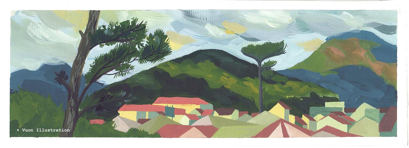 AdobeSketch adobedraw inspire art sketch plen air painting vietnam children book Picture book