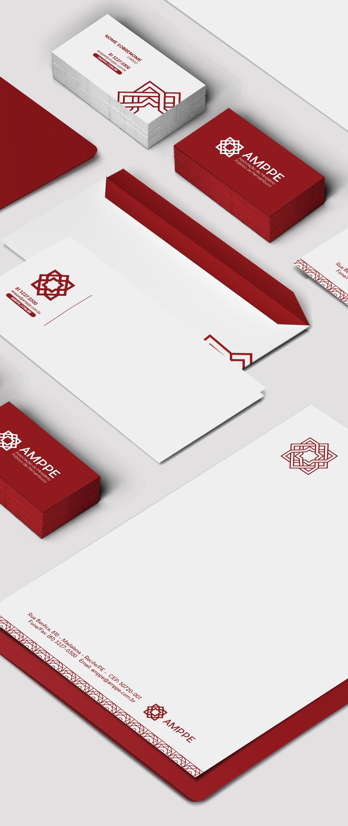brand Logotype pernambuco recife stationary red Association logo visual identity