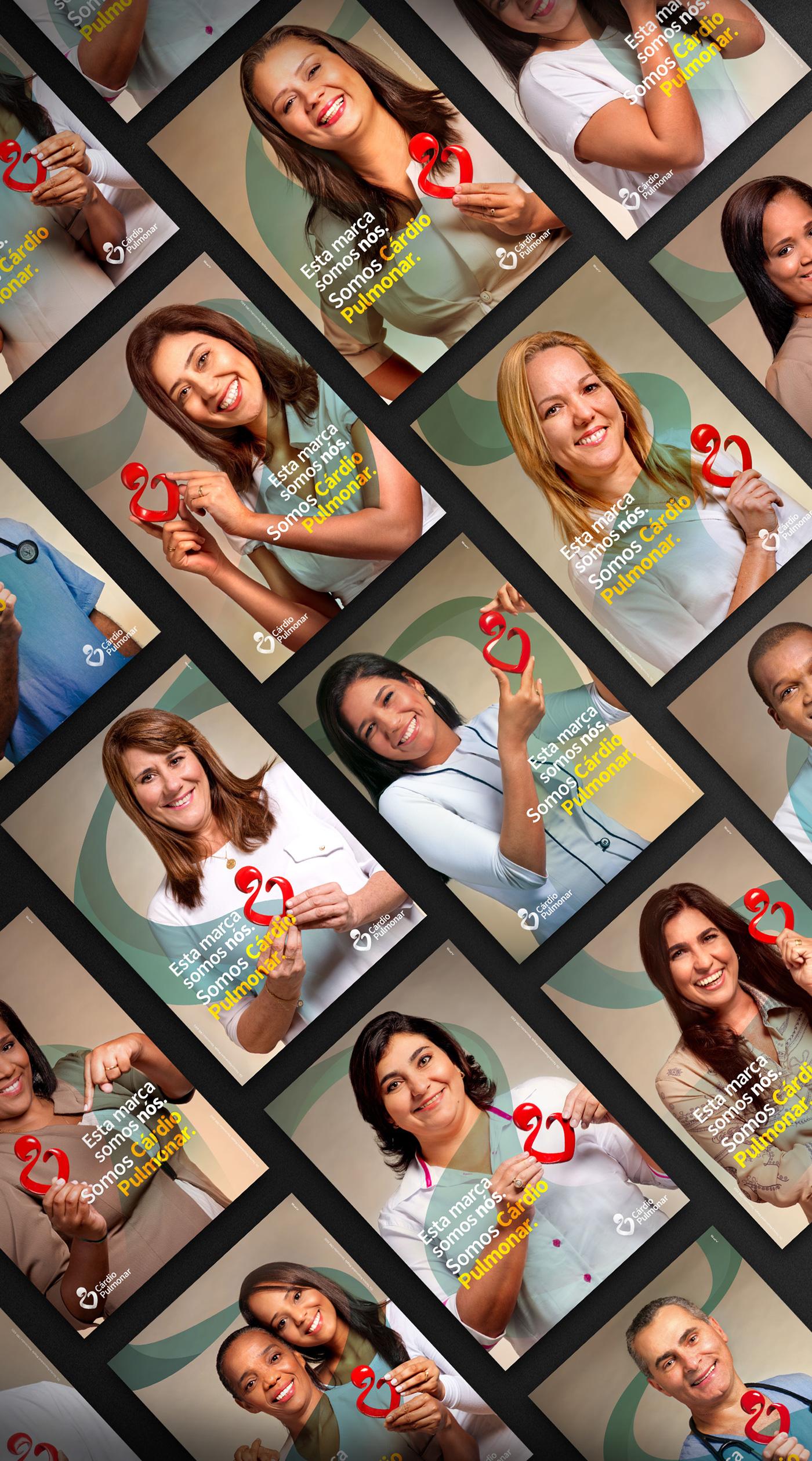 hospital ArtDirection redesign rebranding hearth cardio medicine APS logo