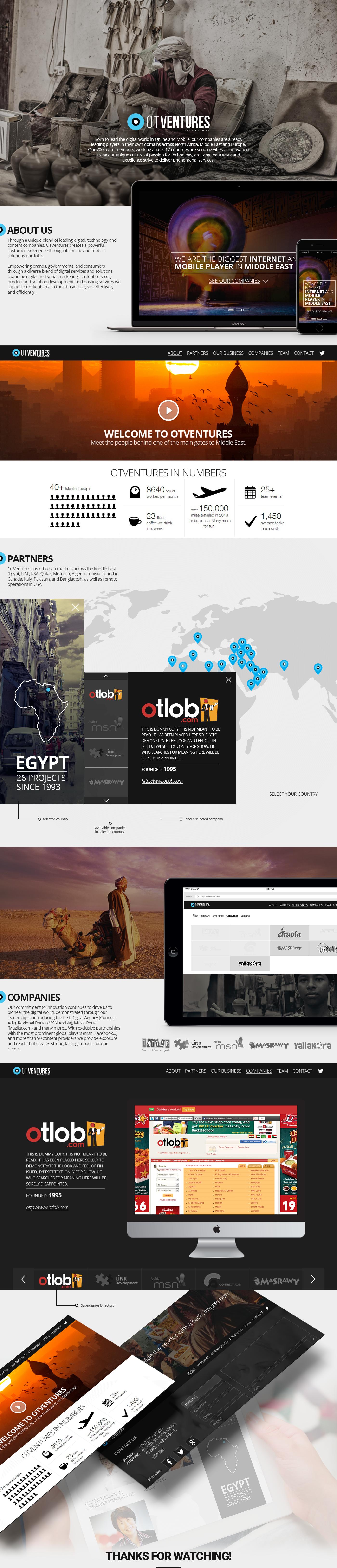OTVentures egypt portal redesign revamp GUI ux portfolio orascom Otlob msn Masrawy mazzika Yallakora