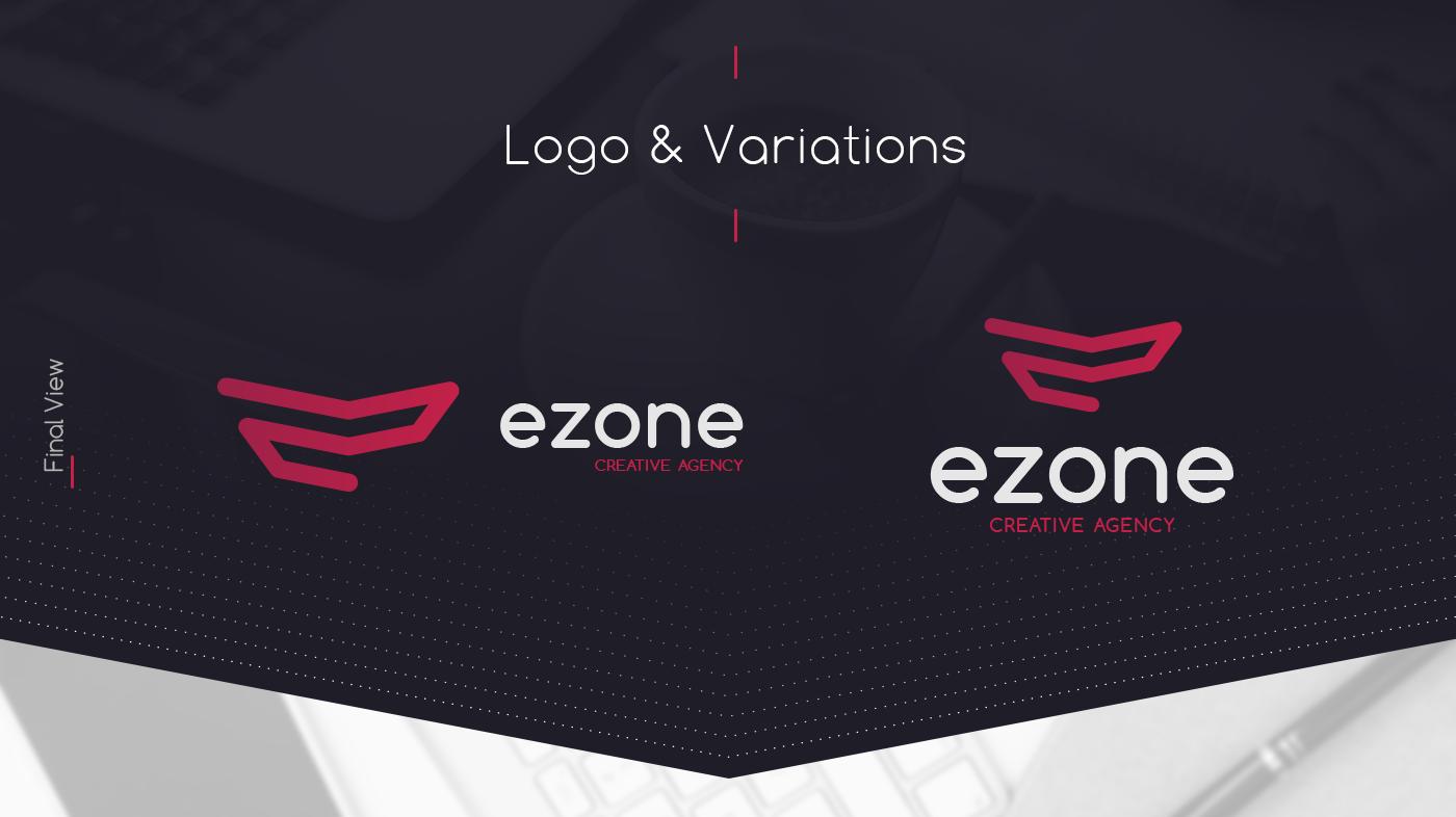 branding  rebranding ezonecreative logo redesign recreate process black Golden Ratio