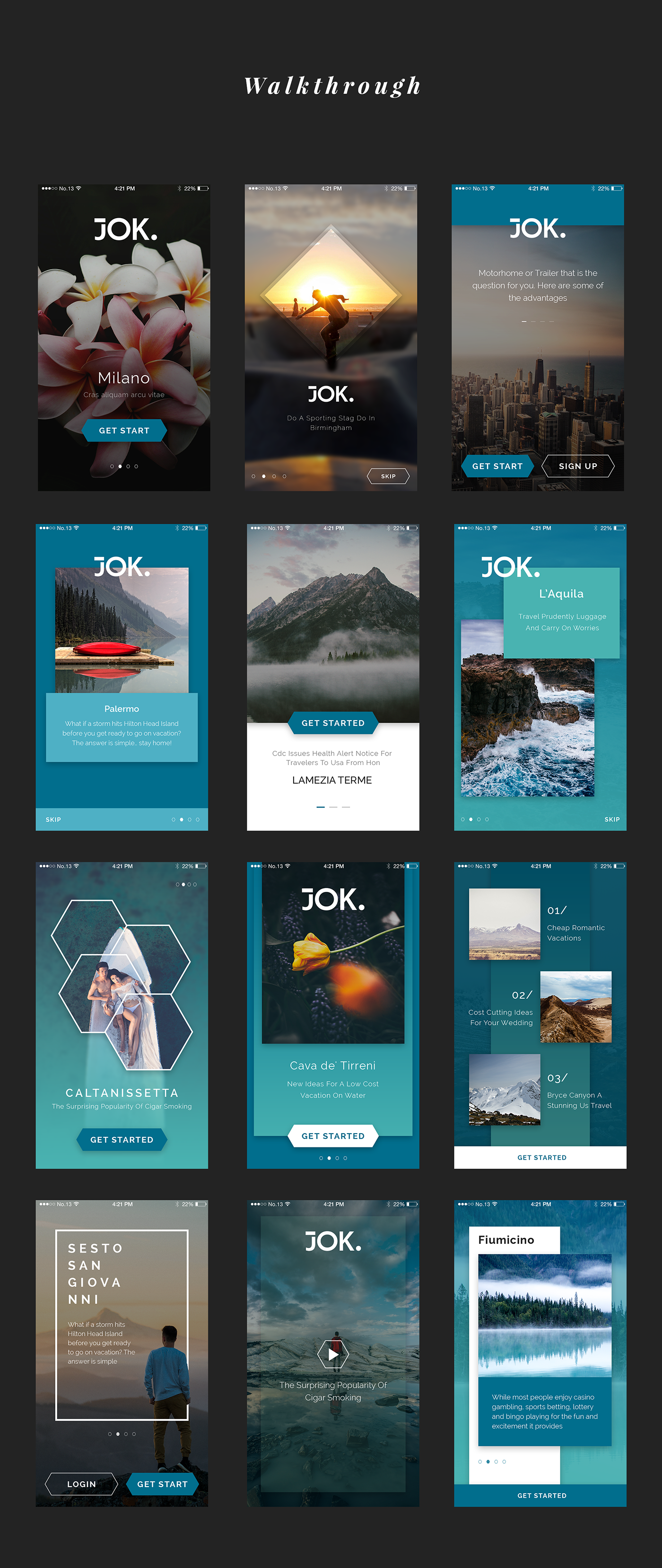 Jok Mobile UI Kit - 1