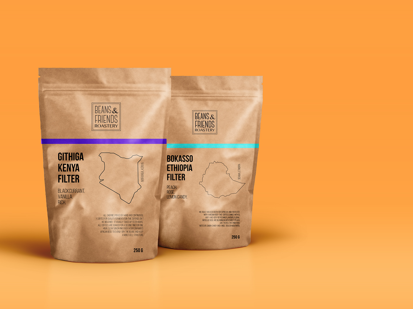Coffee beans packaging concept on Behance