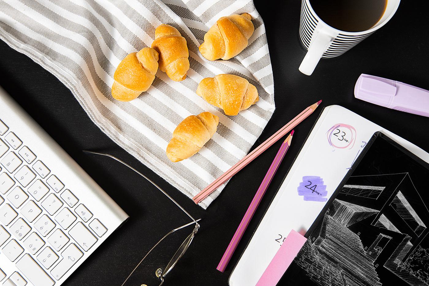 Bauli croissant Food  food photography props still life sweet tea Wholemeal bakery