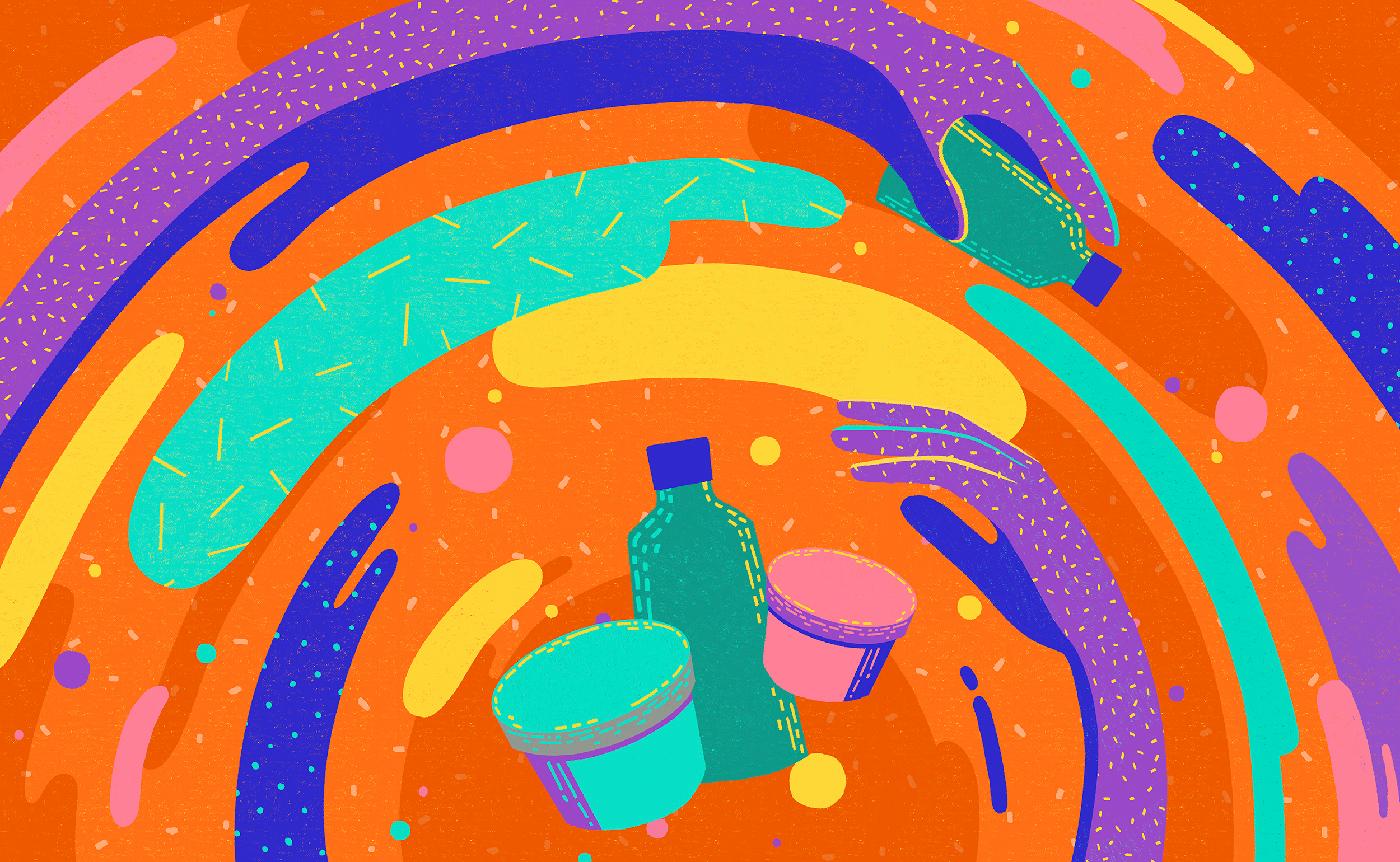 pattern texture 2D Animation cosmetics handdrawn craft motion organic Health Nature